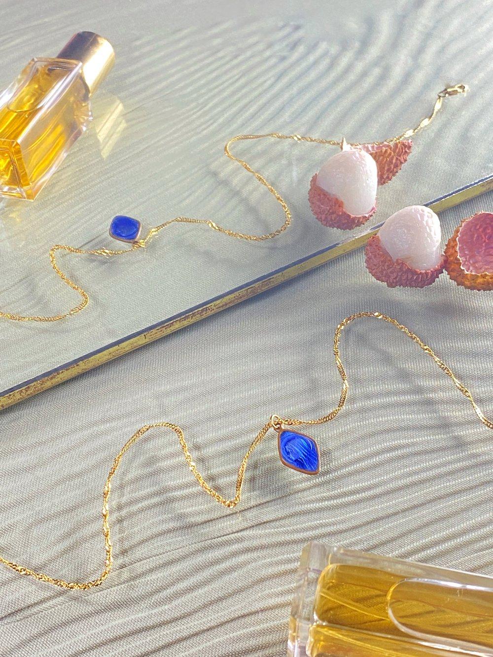 Image of ICONIC BLUE MARIA NECKLACE