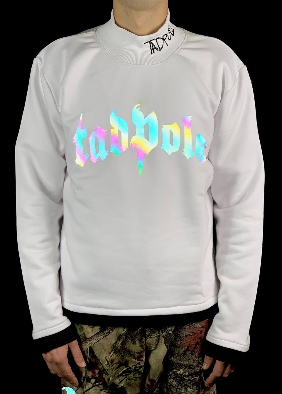 Image of RAINBOW CREWNEK - WHITE