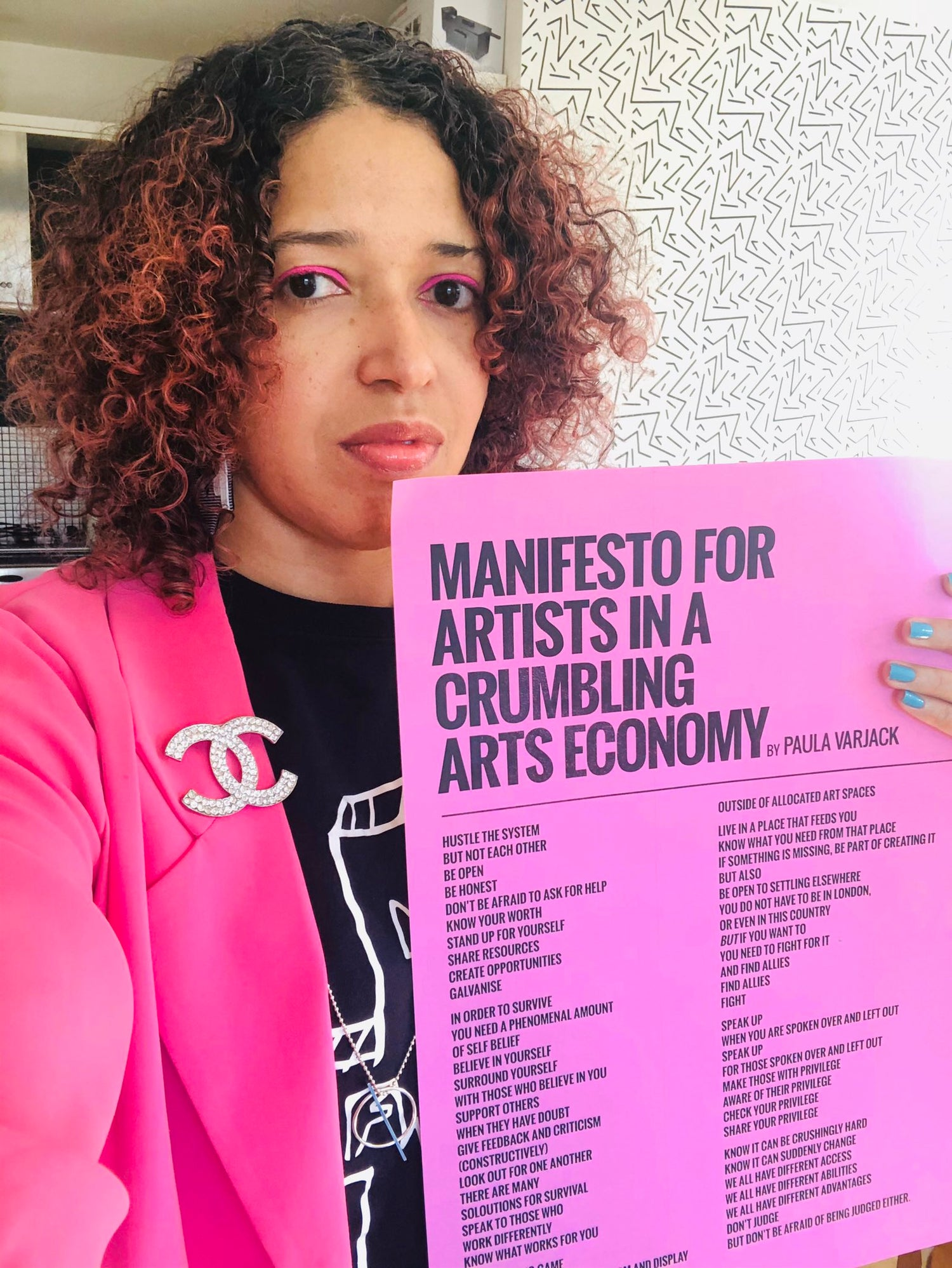 Image of Manifesto for Artists in A crumbling arts economy - Second print run & Ticket to live stream