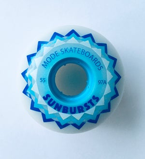 "Image of MODE ""Sunbursts"" 55mm/97A Cored Freestyle Wheel (natural)"