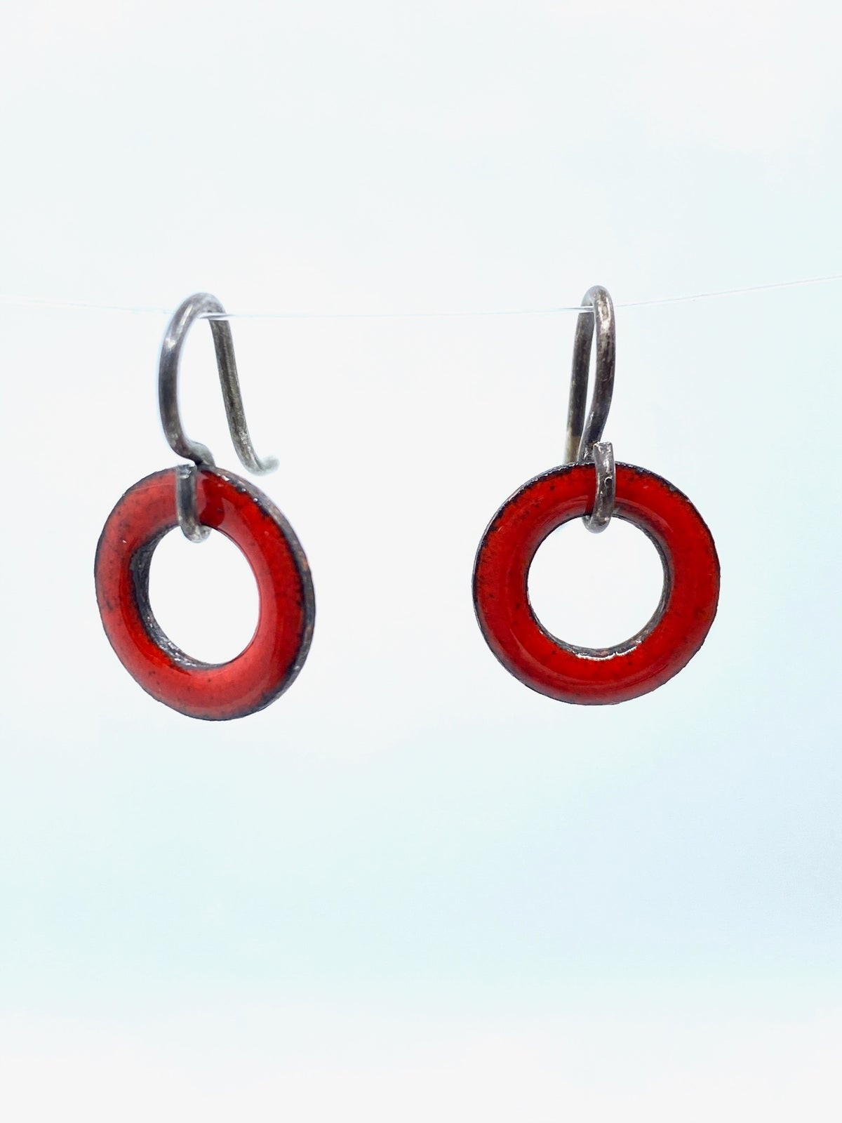 **25% Off** Red Enameled Earrings by Kimberly Geiser