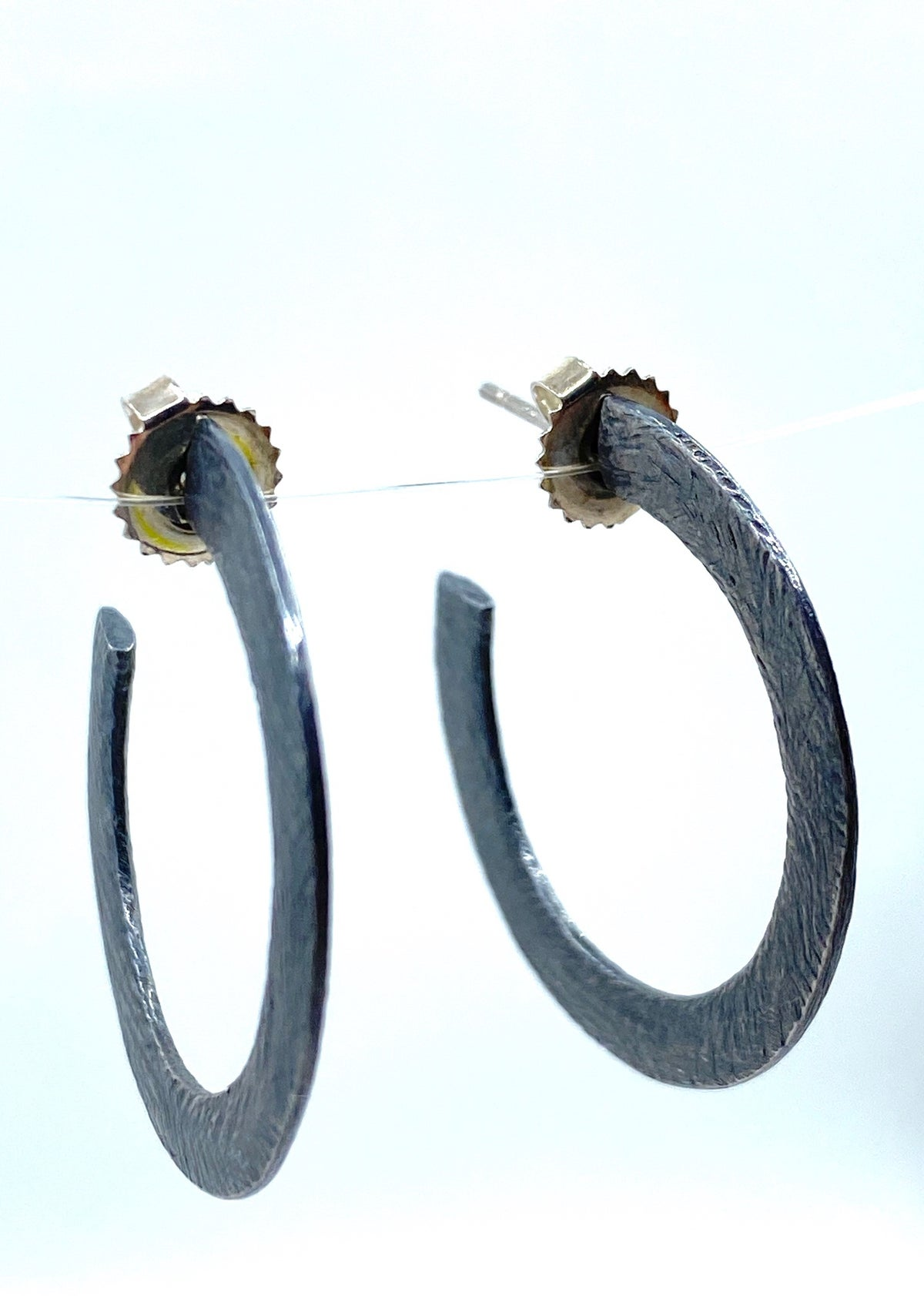 **25% Off** Textured Silver Hoops by Heather Guidero