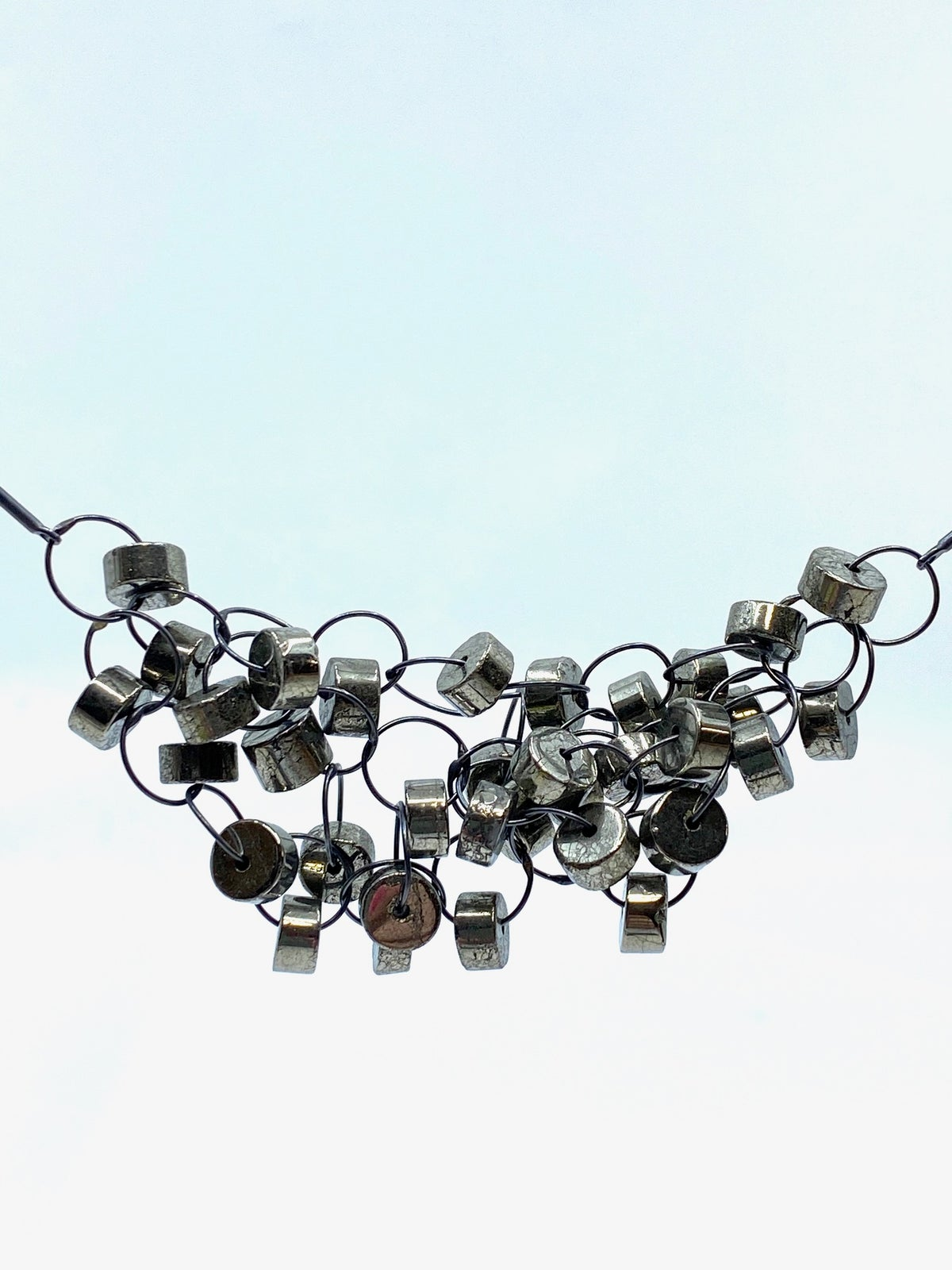 **25% Off** Pyrite Cluster Necklace by Heather Guidero