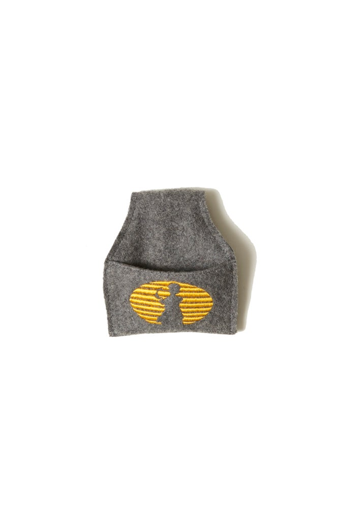 Image of BROSKI - CUE CHALK HOLDER GREY WOOL