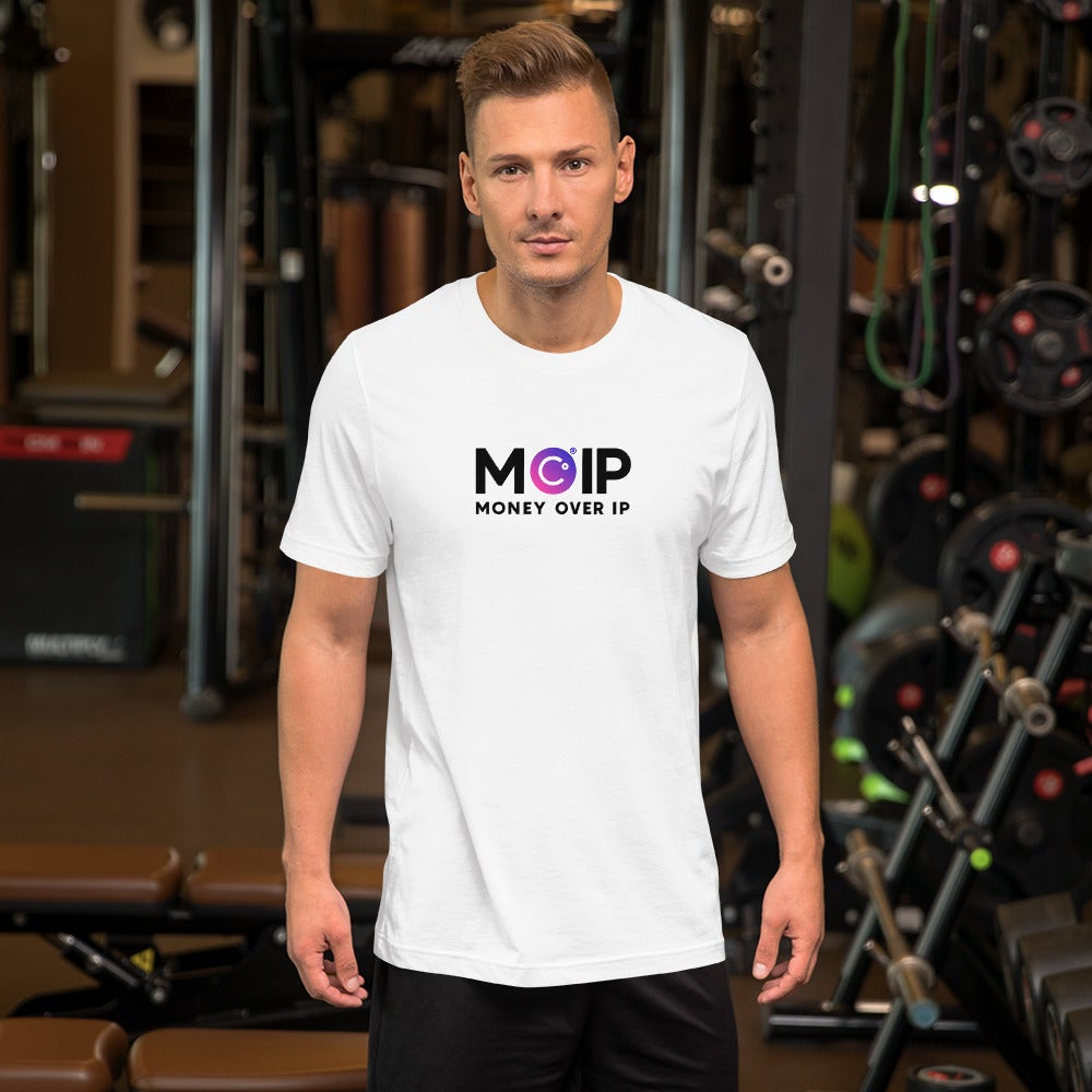 Image of MOIP Short-Sleeve Unisex White T-Shirt