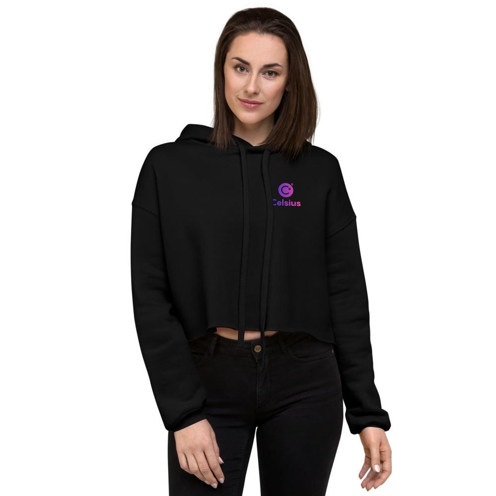 Image of Celsius Women's Black Crop Hoodie