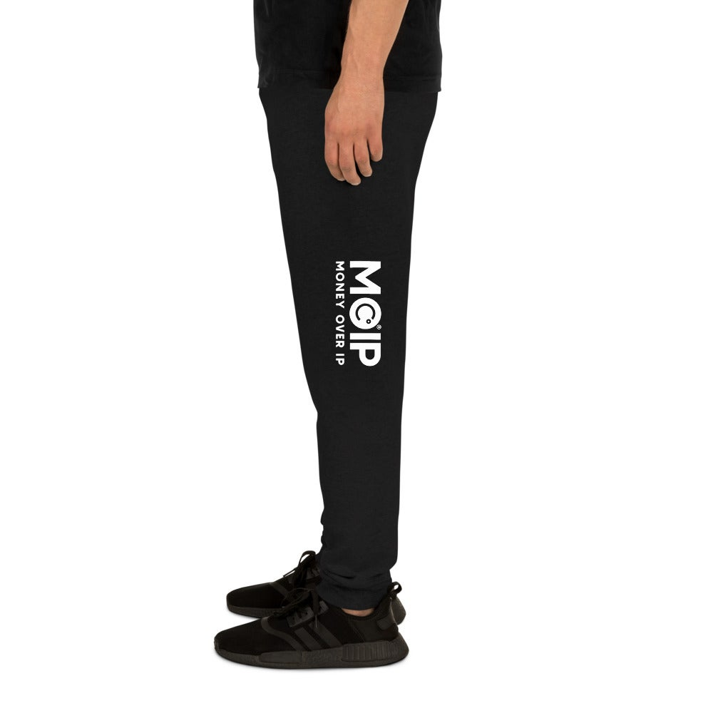 Image of MOIP Unisex Black Joggers