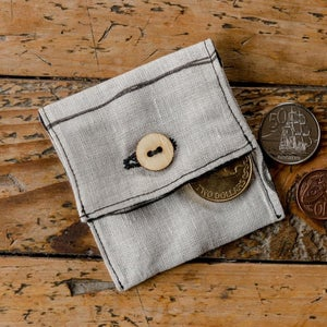 Image of Hand Printed Mini Coin Purse