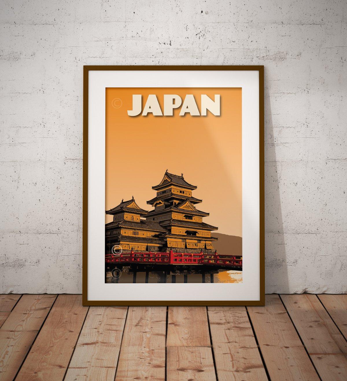 Image of Japan Print | Matsumoto Castle | Vintage Poster | Travel Poster | Gift