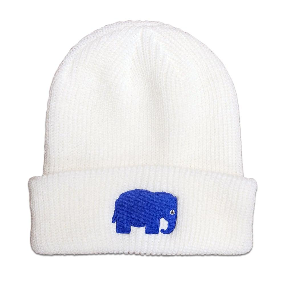Image of Elephant OG Beanie (White)