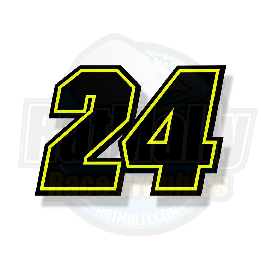 Image of Makina-Neon Race numbers