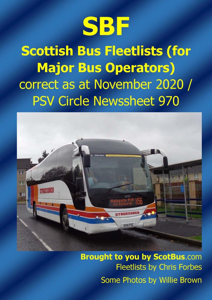 Image of ScotBus November 2020 fleetlist by Chris Forbes PREORDER hard copy w/c 4th Jan / download w/c 21stDe