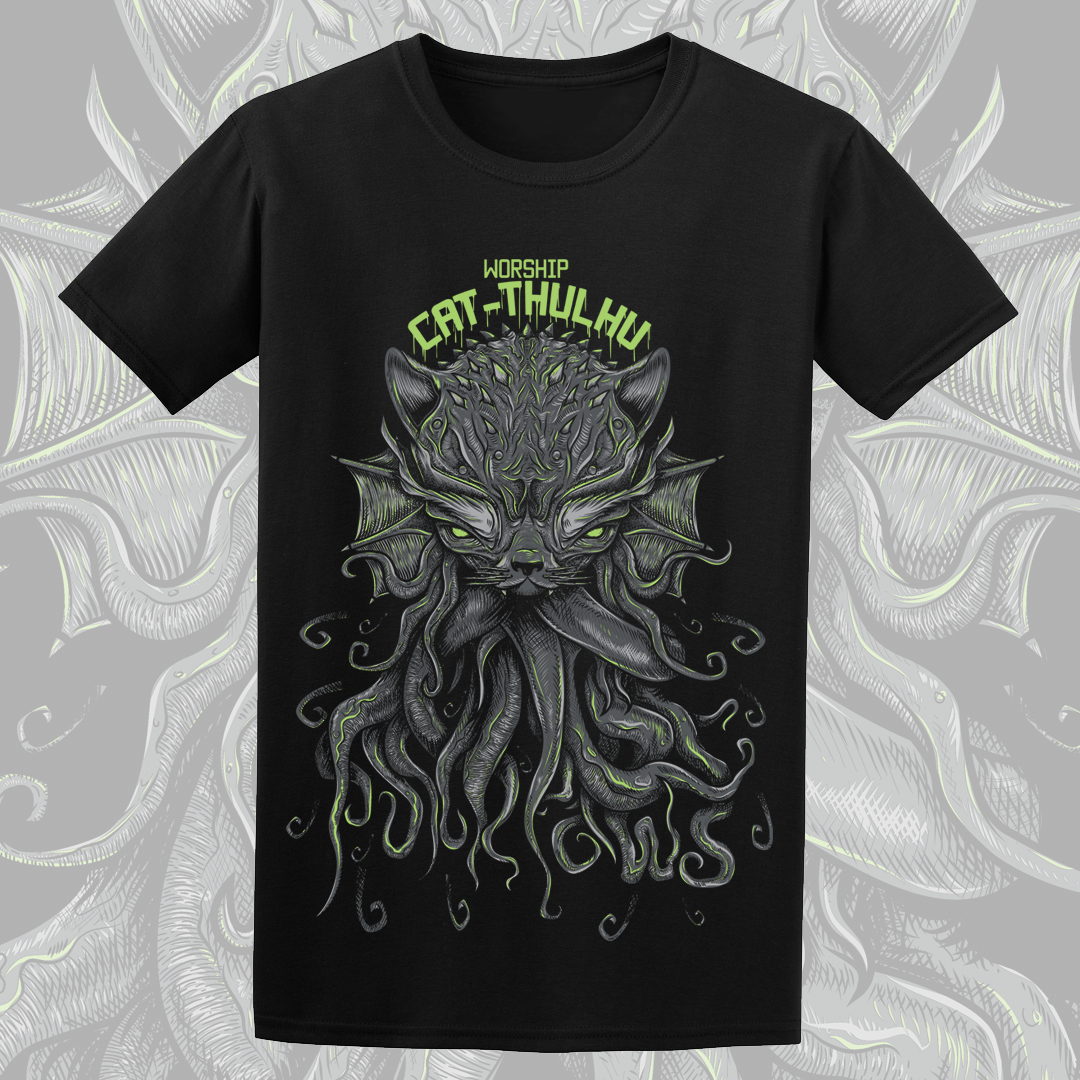 Image of 'CAT-THULHU' T-Shirt