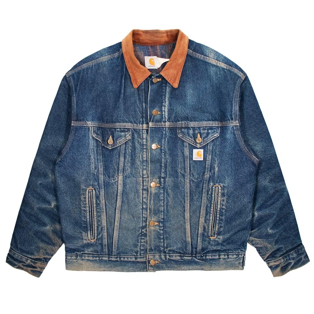 Image of Vintage Carhartt Demin Jacket Wool Blanket Lined Size L