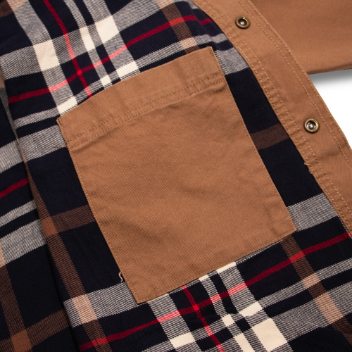 Image of Carhartt Shirt Flanel Lined Hamilton Brown XL/L/M