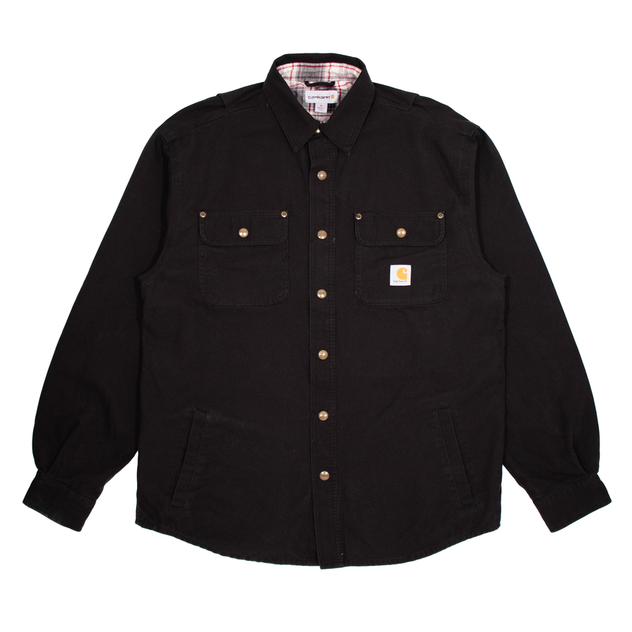 Image of Carhartt Shirt Flanel Lined Black XL/L/M