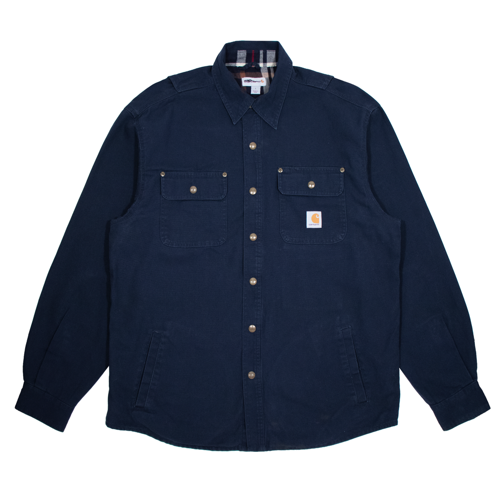 Image of Carhartt Shirt Flanel Lined Navy XL/M
