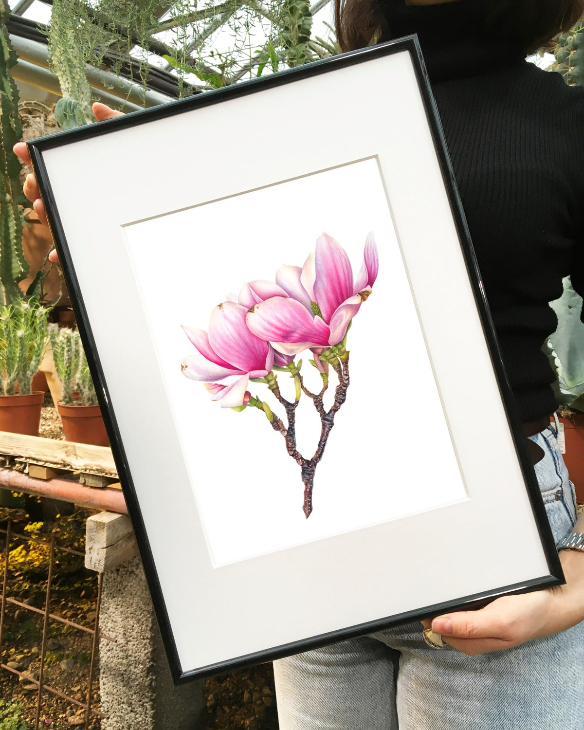 """Sweet Magnolia Flower"". Fine art print of a watercolor painting."