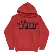 Image of Hoodie Trip Out TEXT Logo Red