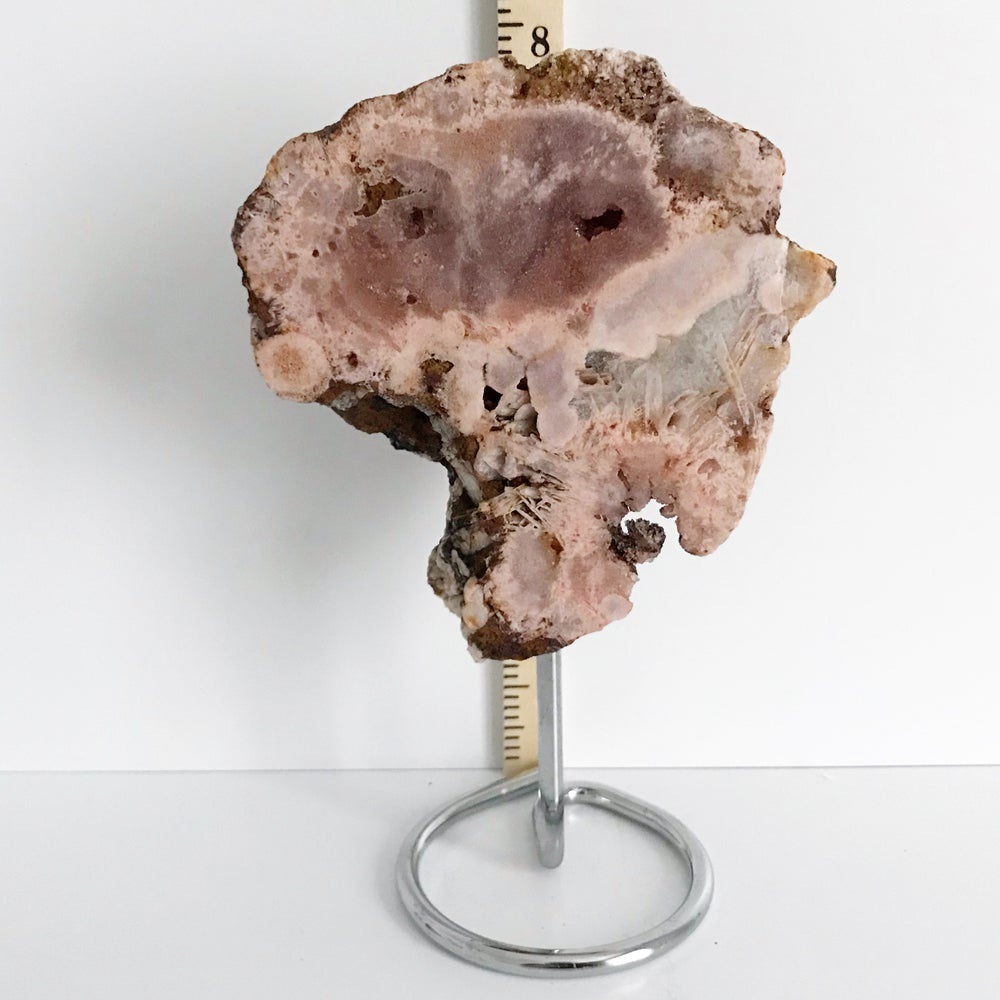 Image of Pink Amethyst No.12 + Limited Edition Chrome Post Stand