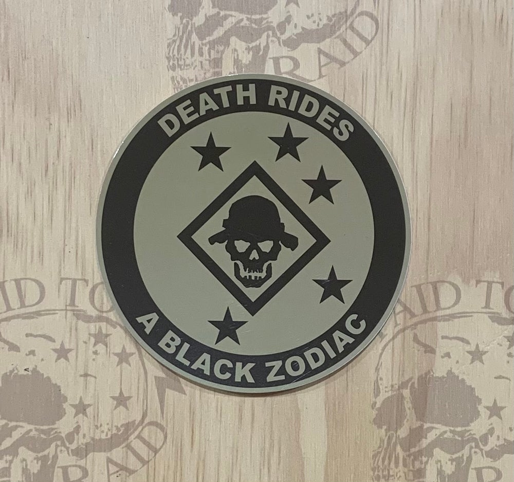 Image of Death Rides Decal