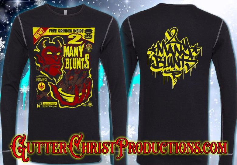 Image of 2 MANY BLUNTS THERMAL SHIRT (IN STOCK)