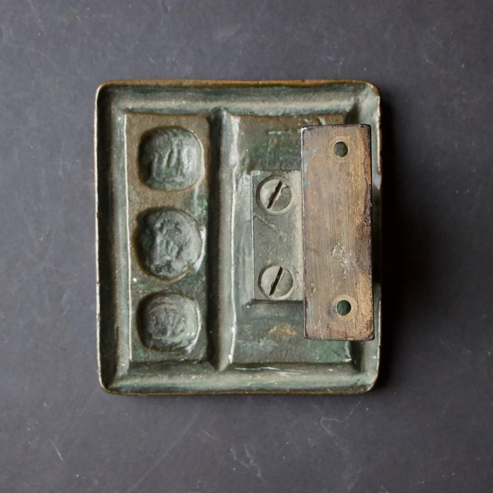 Image of Bronze Door Handle with Modernist Abstract Design