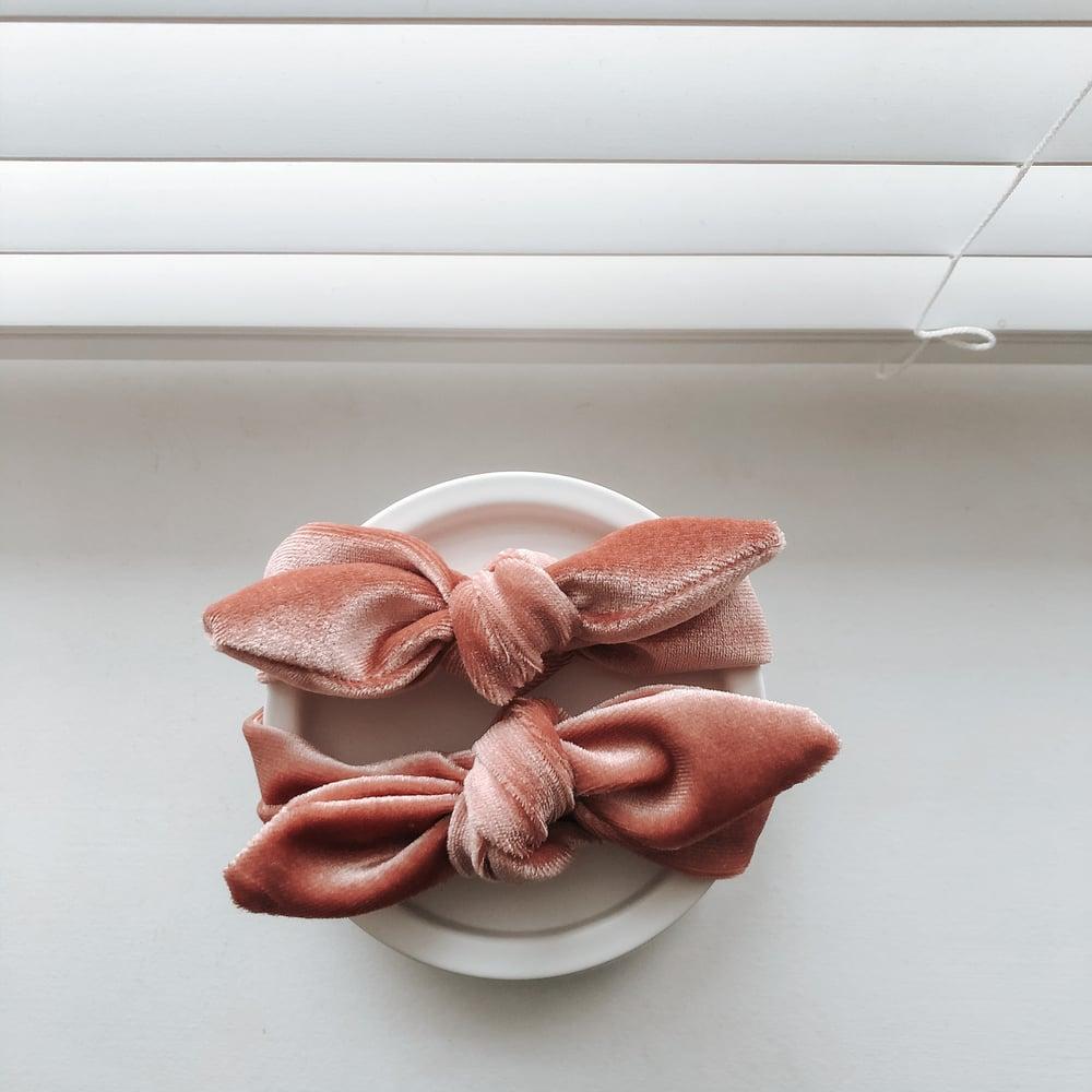 Image of Salmon Pink Velour