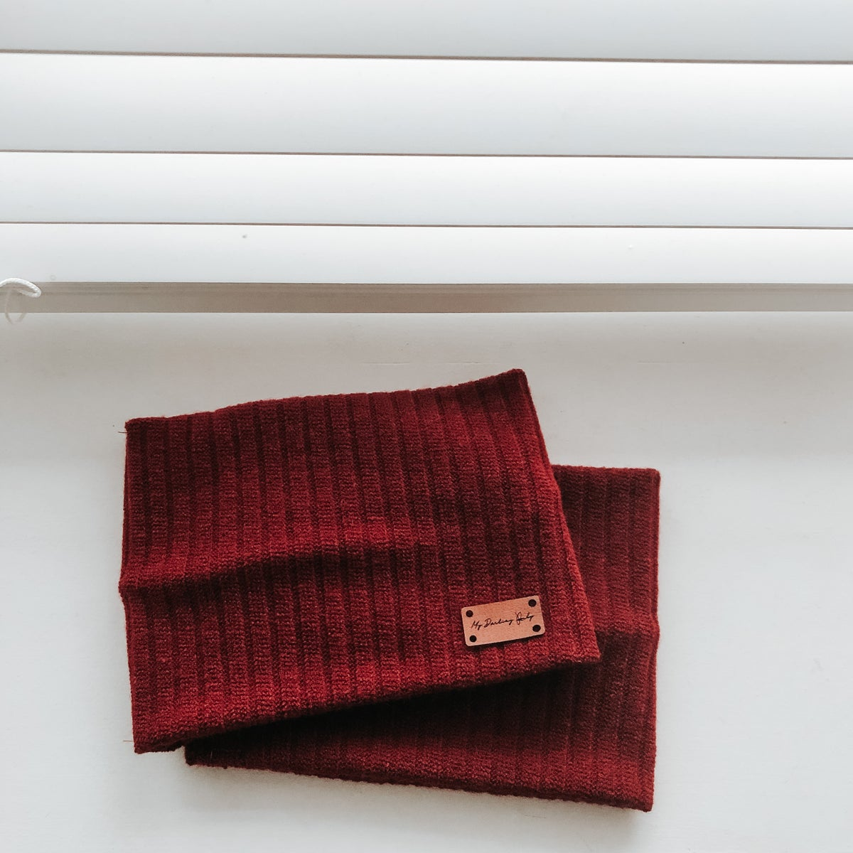 Image of Ribbed Red Snood