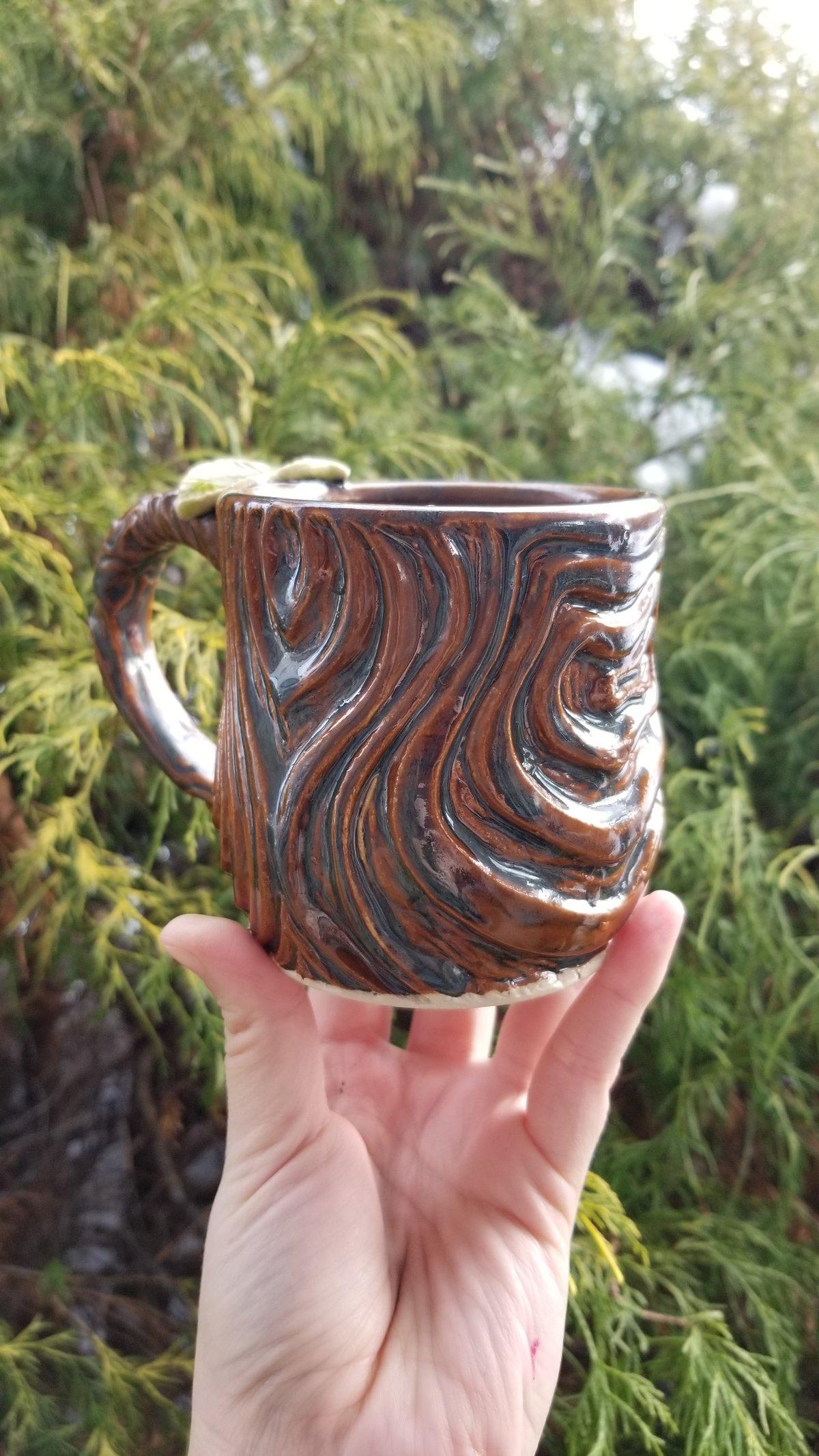 Large Woodcut Mug