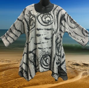 Image of Joy Tunic - Dress up your Leggings - Hand Painted African 2 Design