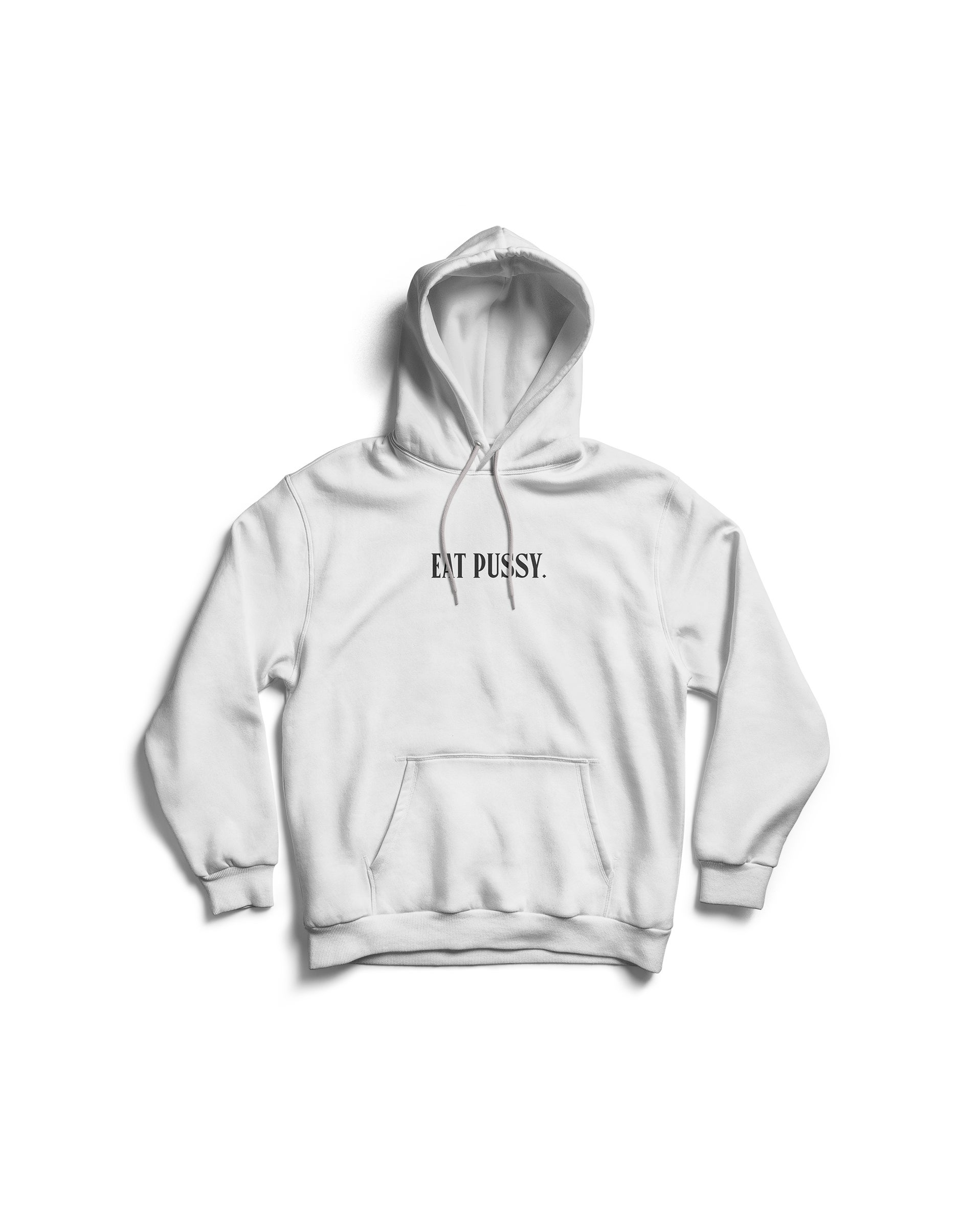 Image of Eat Pussy hoodie 2.0 (White)