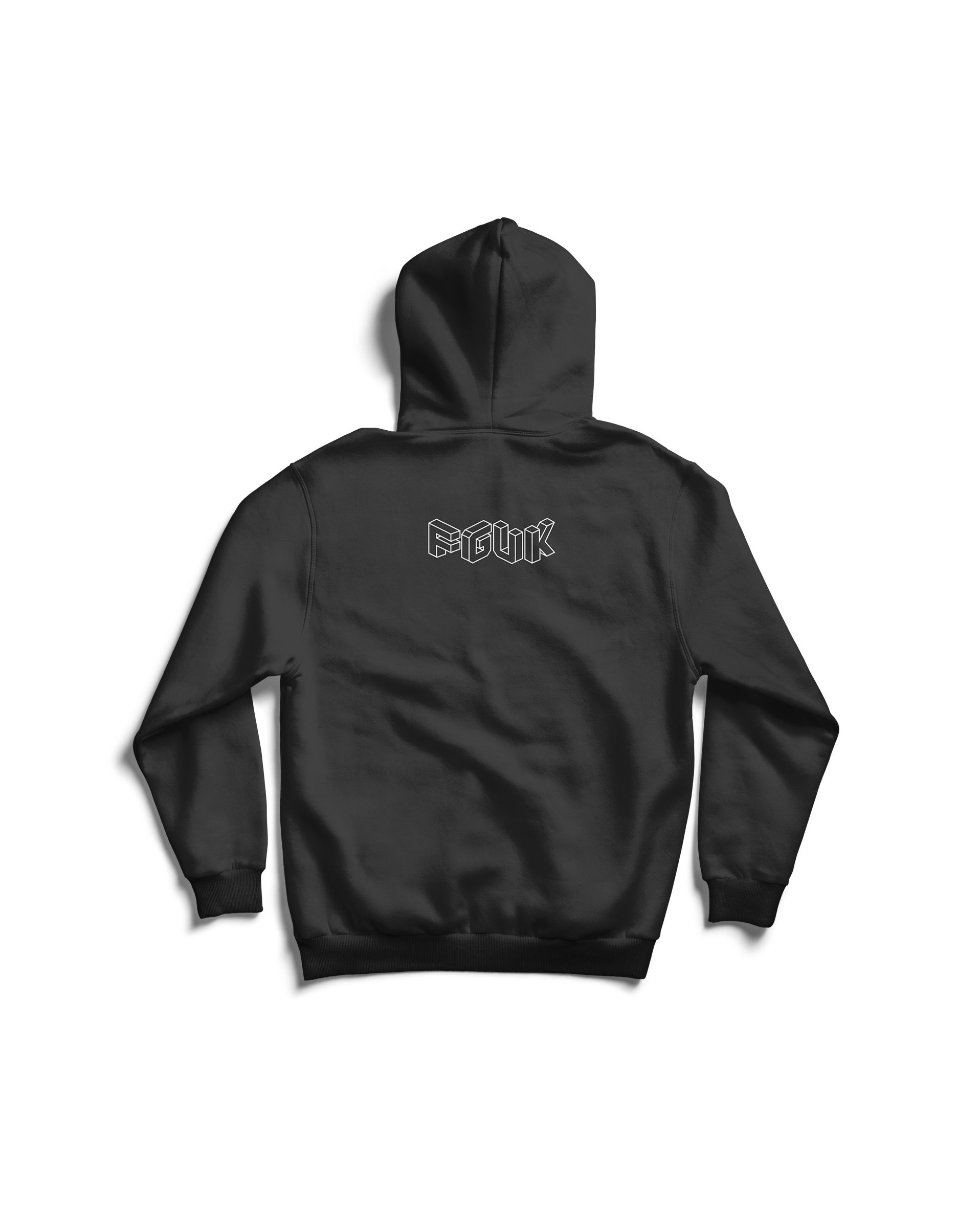 Image of IT'S THE CAUCASITY FOR ME HOODIE IN (BLACK)