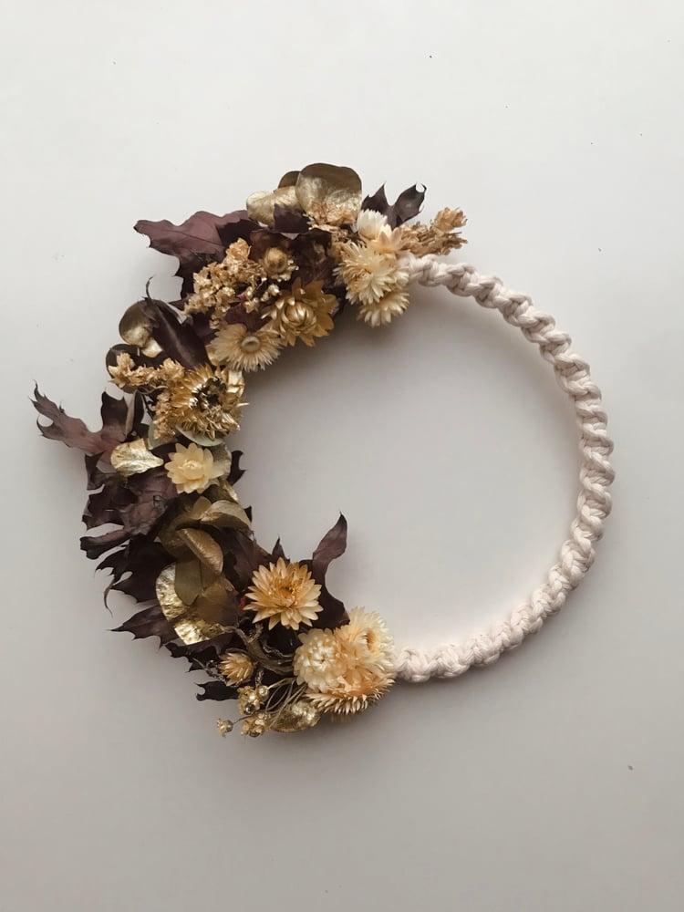 Image of Dried flowers & macrame wreath