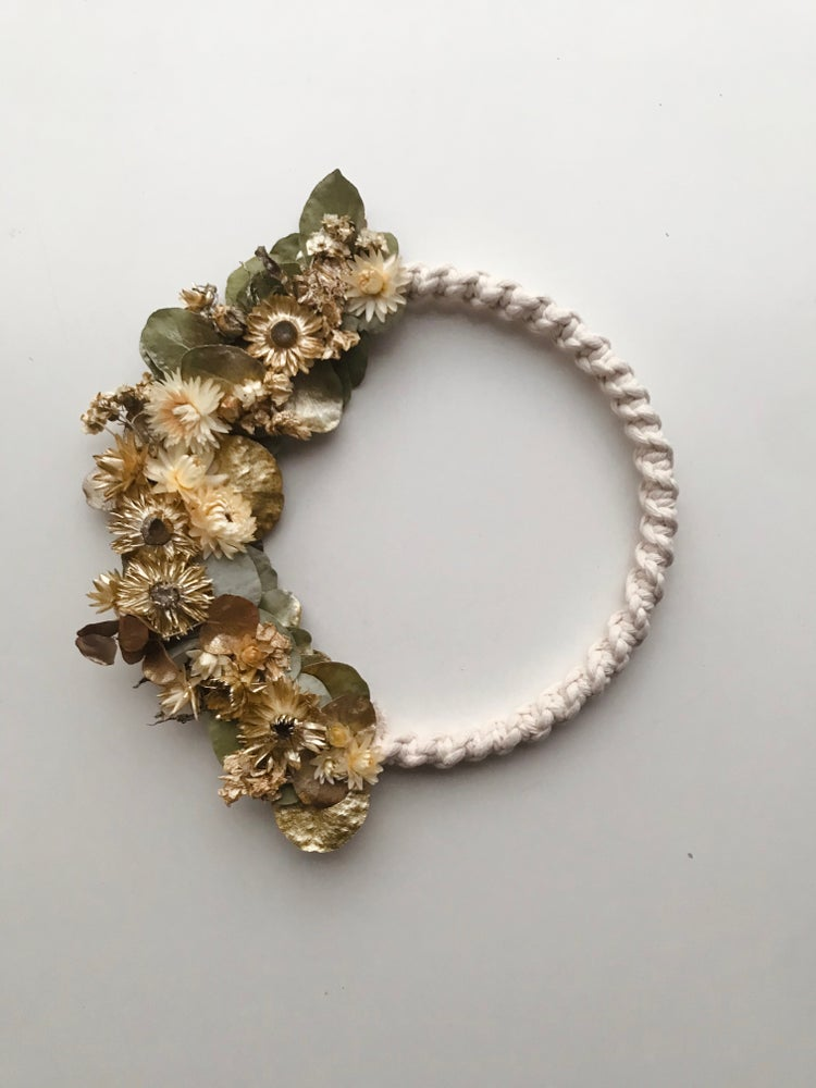 Image of Dried flowers & macrame wreath