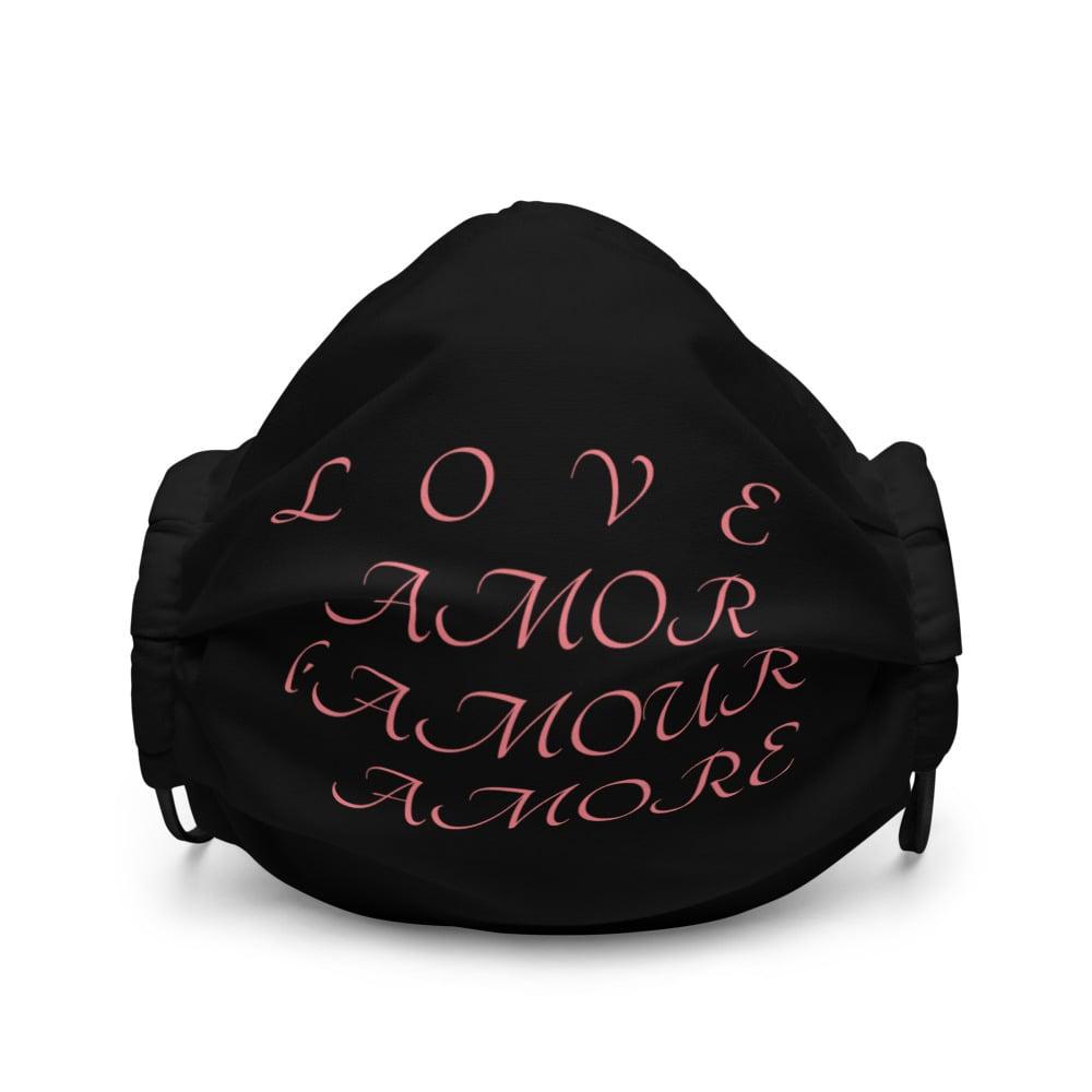 Image of L O V E face mask