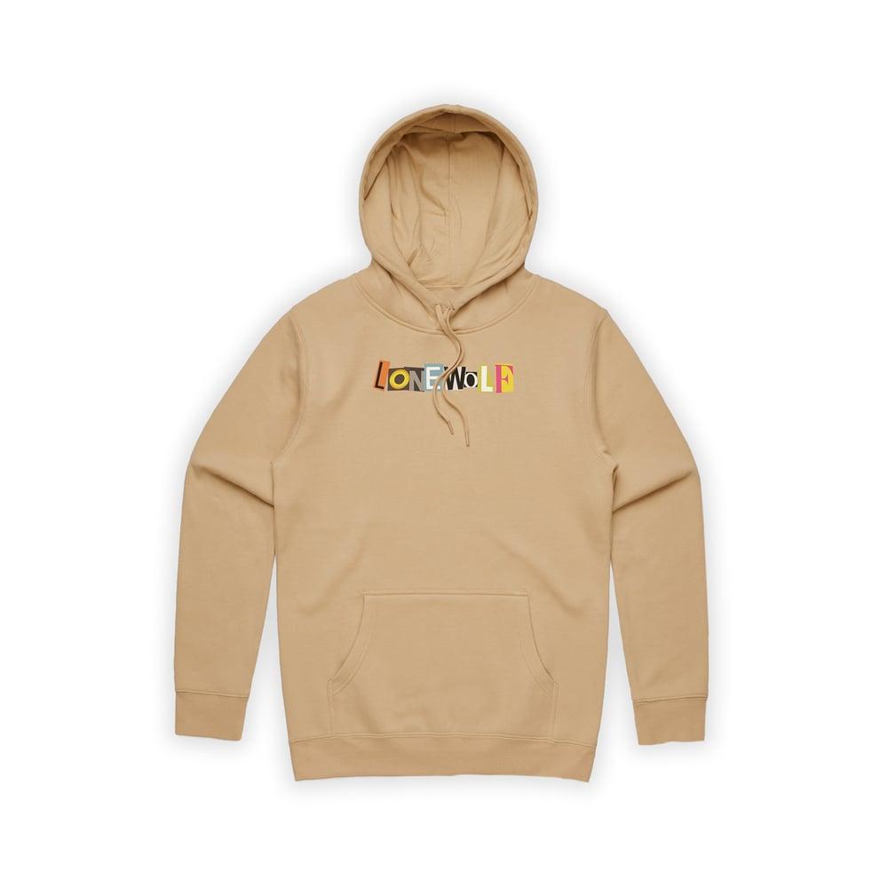 Image of OG Embroidered Logo Hoodie in Sand