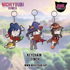 Image of [Nichiyoubi x INagi] Chibi Xiangling - Chibi Mona - Chibi Megumin
