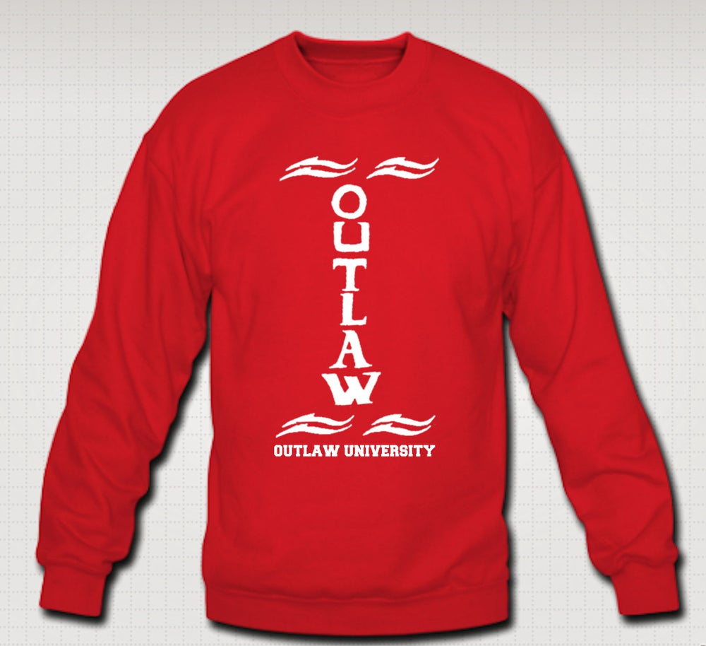 Image of Outlaw Tatt Crewneck - Comes in Red, Grey,Navy Blue, Black.. CLICK HERE
