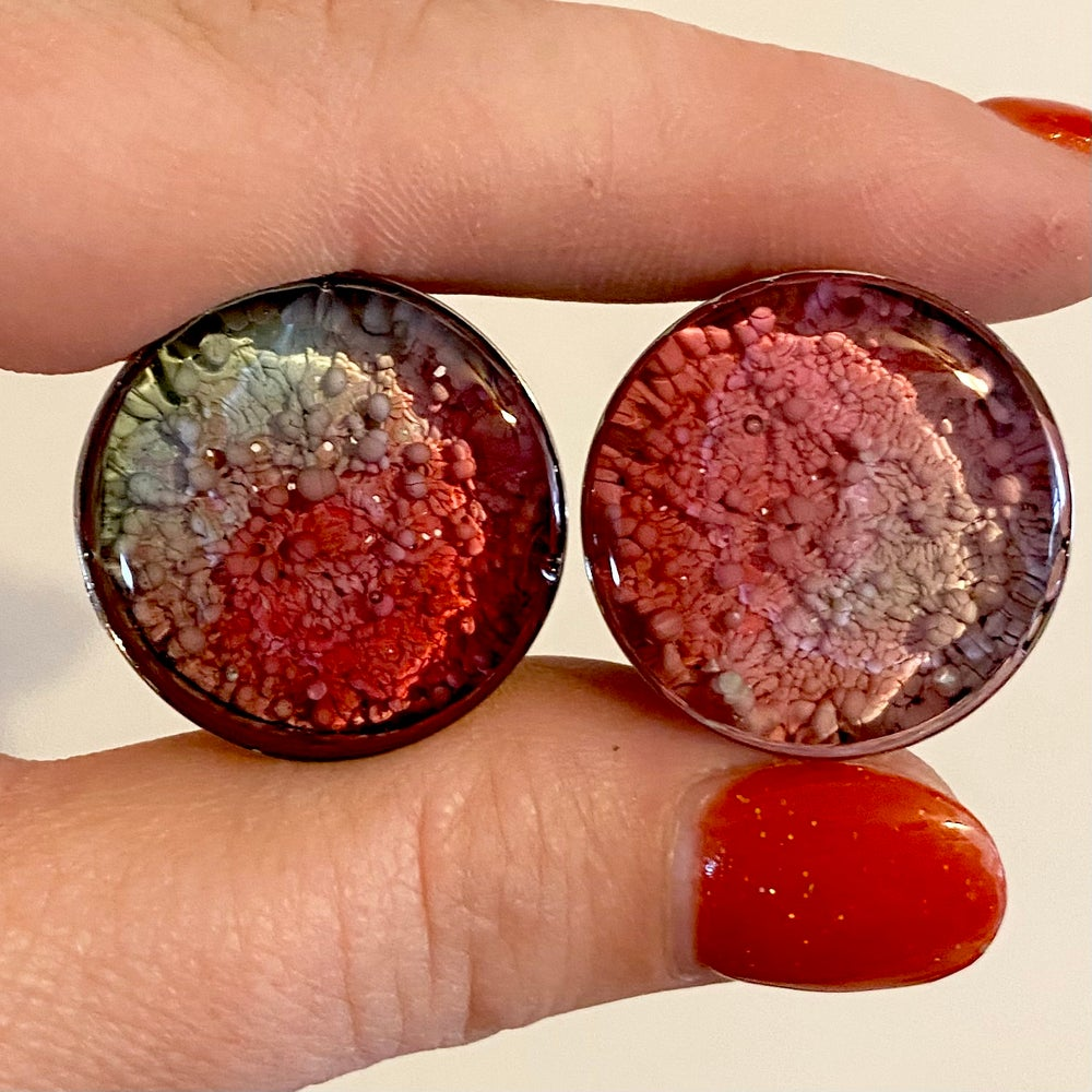 Image of 7/8 Coral/Mint Inky Plugs