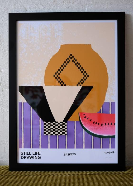 Image of Framed Baskets Poster – Black
