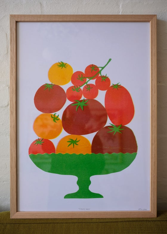 Image of Framed Tomato Table Piece – Vic Ash