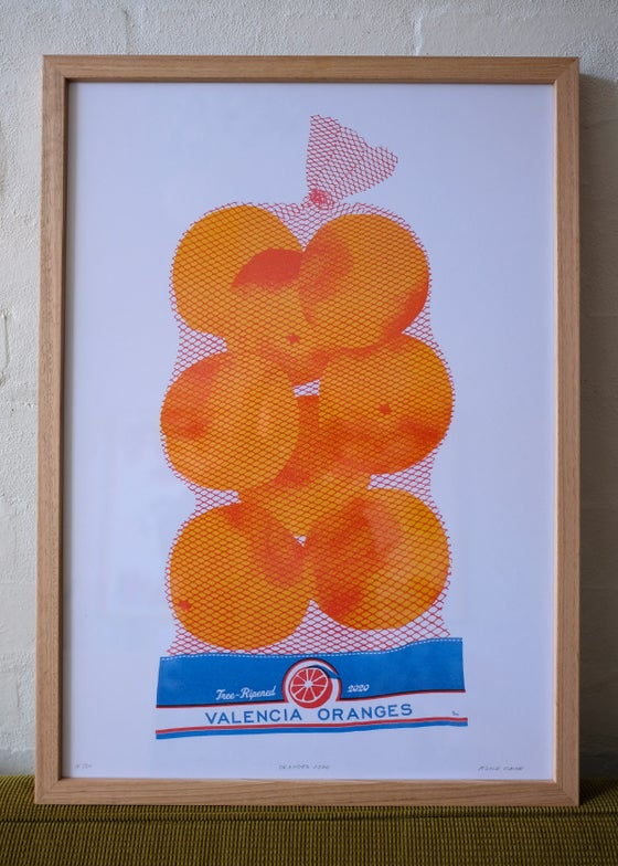 Image of Framed Valencia Oranges print – Vic Ash
