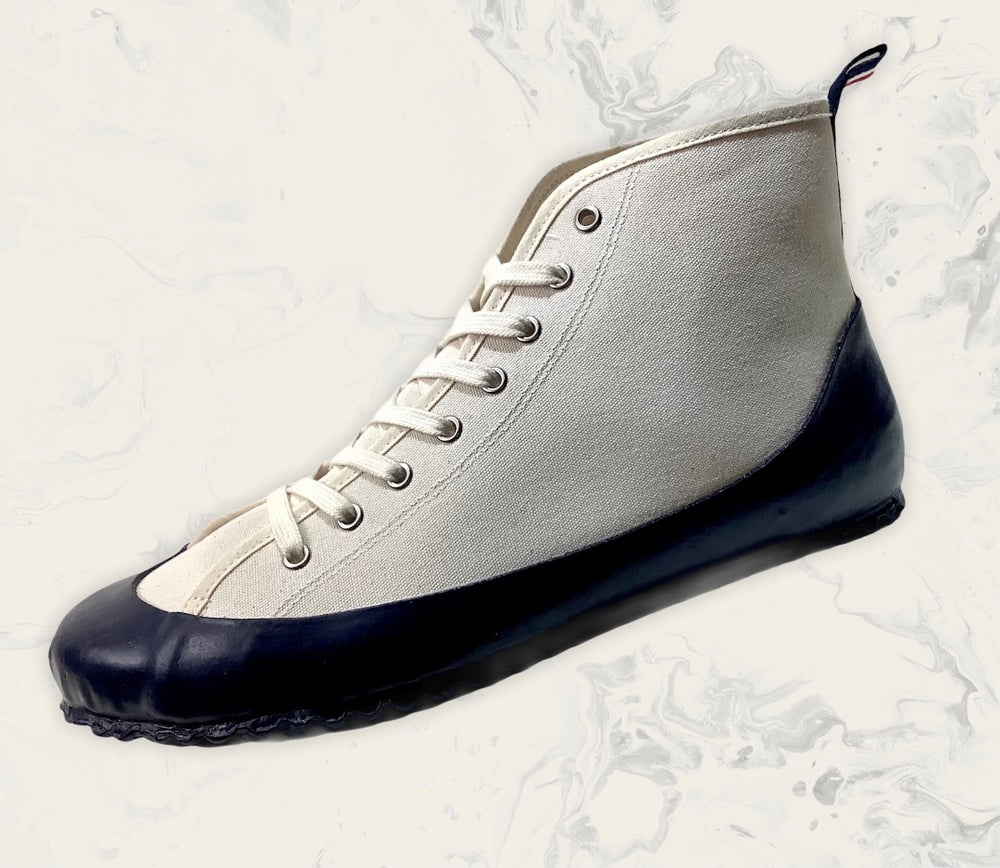 Image of ALLX x Quarter416 marine hi top sneaker shoes made in Romania