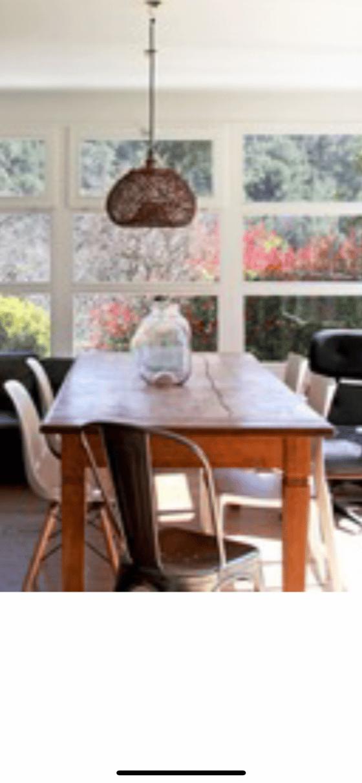 Image of Table de ferme familiale en teck