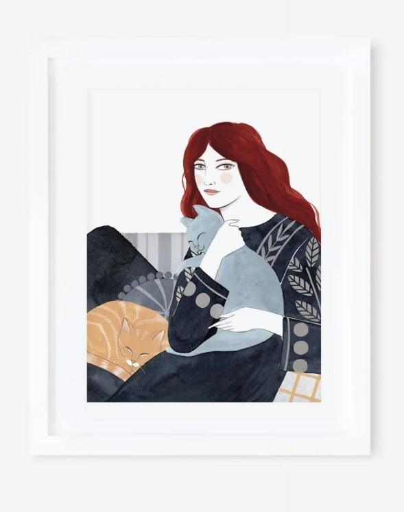 Image of Lámina MADRE DE GATOS