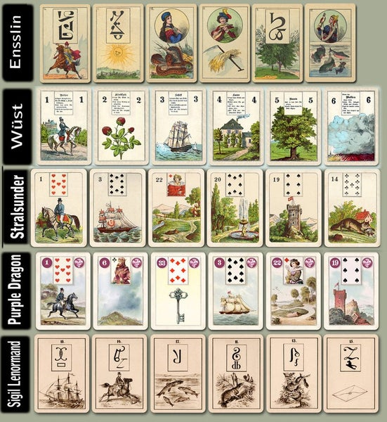 Image of Mini Lenormand Decks ~ LOTS of them
