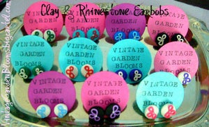 Image of Clay & Rhinestone Earrings **Featured on the Nie Nie Dialogues**