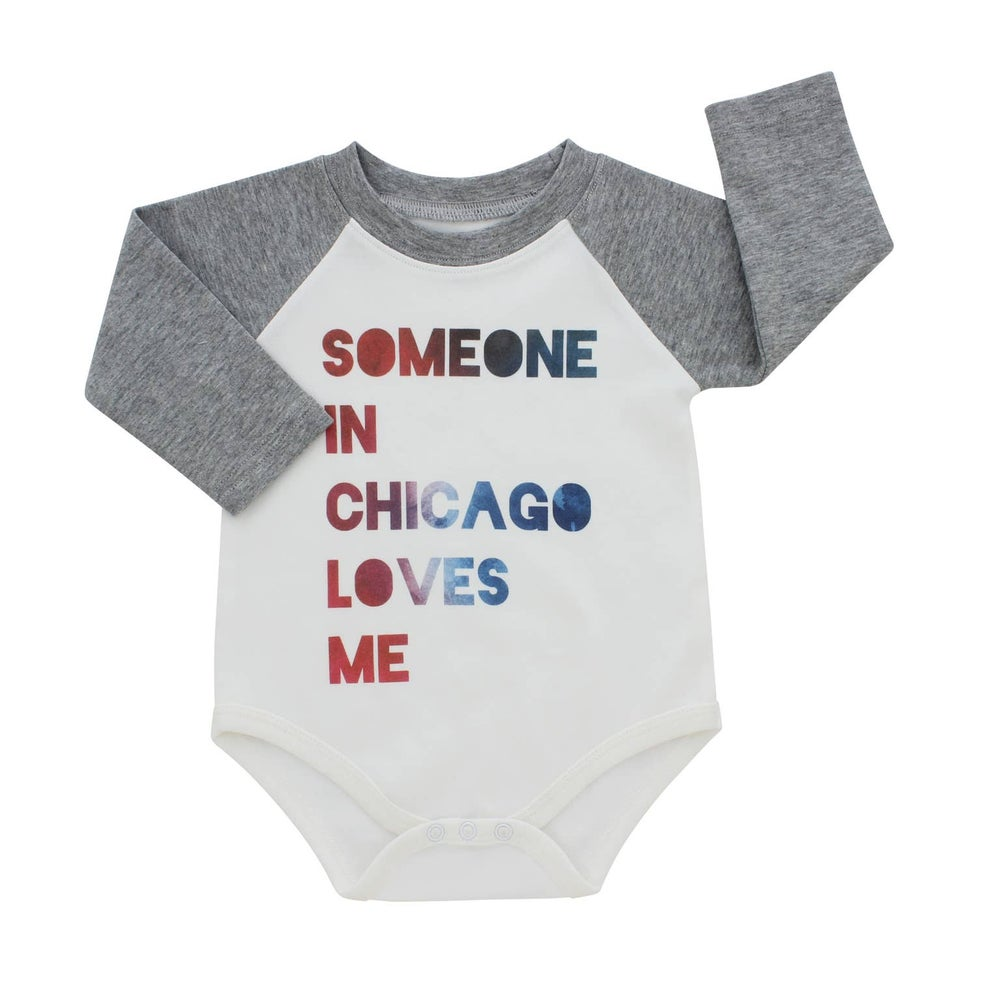 Image of Someone In Chicago Loves Me Onesie (long sleeve)