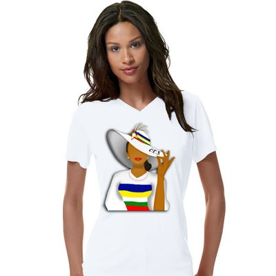 Image of OES V-Neck Dress Women's Shirt